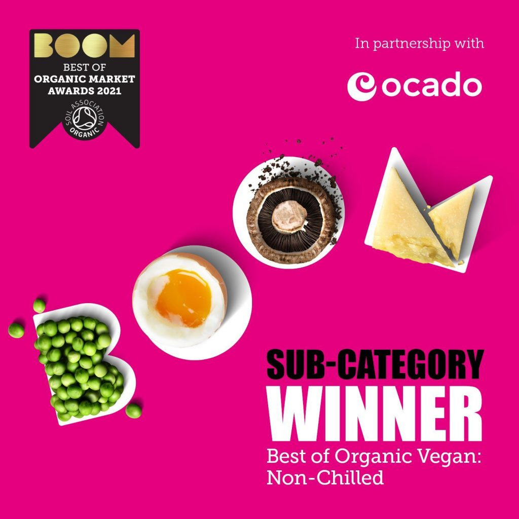 BOOM! Two products win organic food awards